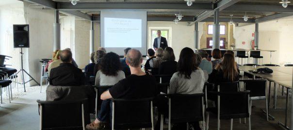 Alexander Horn bei seinem Vortrag zum Thema Profiler in Wolfenbüttel, 2016